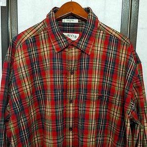 Orvis flannel button front plaid shirt XL